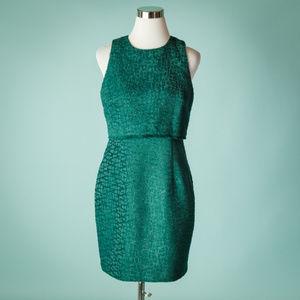 Karl Lagerfeld 6 Green Sleeveless Textured Dress